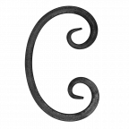 Spirala kuta typu C 12x12 mm H130 x L80 mm