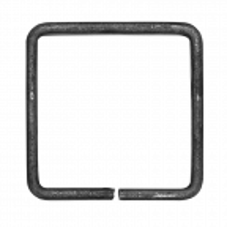 Kwadrat kuty 12x6 mm H80 x L80 mm