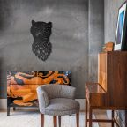 Tygrys - metalowa ozdoba ścienna 700 x 370 mm