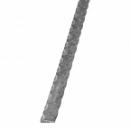 Pochwyt stalowy fakturowany, płaskownik 30x5 H6000 mm