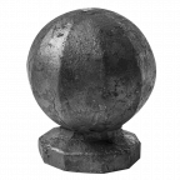 Stalowa gałka fi45 x H50 mm