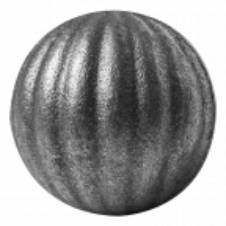 Kula stalowa pełna fakturowana fi 30 mm