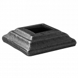Maskownica stalowa kuta otworowana 80 x 80 x H20 mm, otwór 30,5x30,5 mm