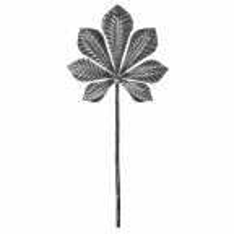 Liść kasztanowca stalowy ozdobny H480 x L210 x 2,5 mm
