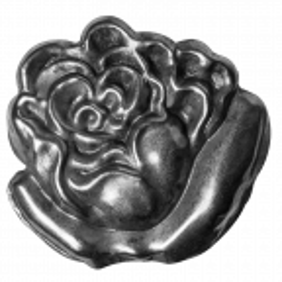Pąk róży kuty lewy H130 x L135 x 1,5 mm