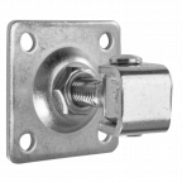Zawias regulowany do bram i furtek, z szyldem M18 90x90 mm