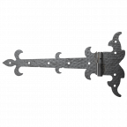 Zawias pasowy ozdobny prawy H350 x L200 x 3 mm
