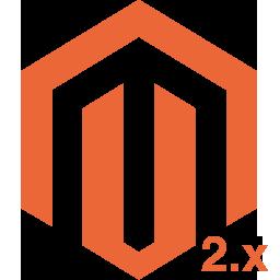 Stalowy daszek na profil 60x60 mm z kulą ozdobną fi 50 mm, ocynkowany