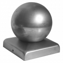 Daszek stalowy na słupek 60 x 60 mm kula fi 60 mm