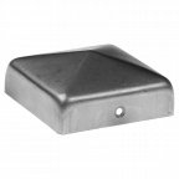 Stalowy daszek kopertowy na słupek 100x100x1 mm, wysoki rant