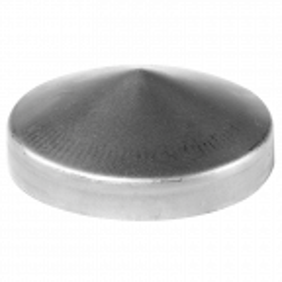 Daszek stalowy na słupek fi77 mm