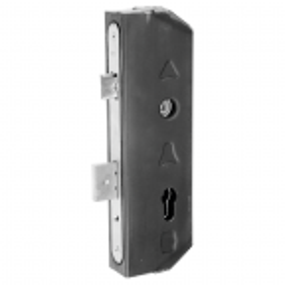Kaseta z zamkiem dwuzapadkowym H260 mm do profilu 80x40 mm
