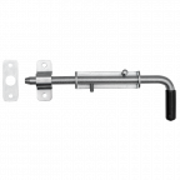 Rygiel do bramy i furtki ocynkowany 220 mm, podstawa 25 mm