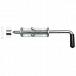 Rygiel do bramy lub furtki ze sprężyną 220x12 mm, ocynkowany