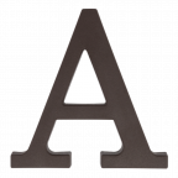 """Plastikowa litera na dom """"A"""", 90 mm, brązowa"""