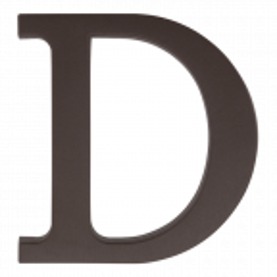 "Plastikowa litera na dom ""D"", 90 mm, brązowa"