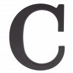 "Plastikowa litera na dom ""C"", 90 mm, czarna"