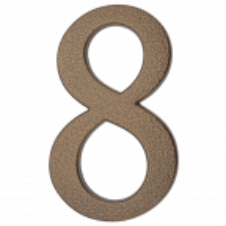 """Aluminiowa cyfra na dom """"8"""", 190 mm, złoty brąz"""