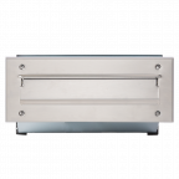 Skrzynka na listy przelotowa z szufladą PM 6N, srebrna