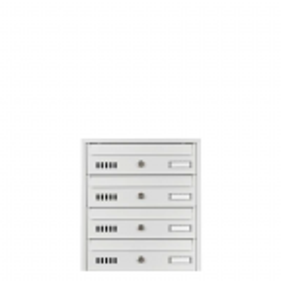 Skrzynka na listy lokatorska ALABASTER 4-skrytkowa, różne kolory (stal galwanizowana)