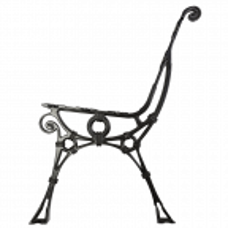 Noga aluminiowa ławki retro bez oparcia bocznego