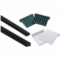 Zestaw do montażu szkła 20,76mm, 21,52mm w profilu aluminiowym balustrady całoszklanej, długość 6m