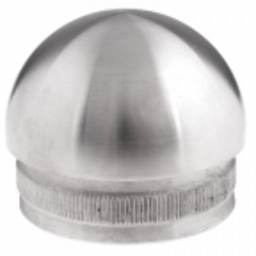 Zaślepka poręczy lub słupka balustrady fi42,4 mm, elipsoidalna wbijana, stal nierdzewna, satyna
