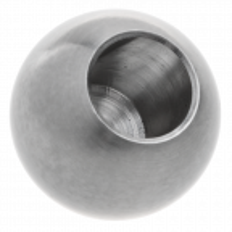 Kula wklejana ze stali nierdzewnej fi25 mm otwór 10 mm, satyna