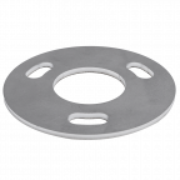 Podstawa słupa balustrady 42,4 mm do wspawania, fi 100 mm, 3x11mm stal nierdzewna, powierzchnia surowa