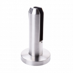 Uchwyt pionowy do szkła Spigot H182 mm, grubość szkła 12-17,52mm, stal nierdzewna